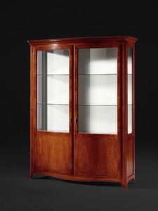 Carennac VS.6559-0, Shaped walnut showcase with two doors
