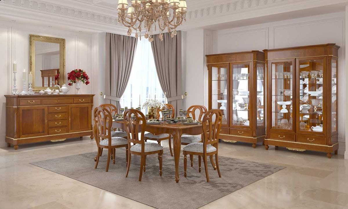 Carlotta display cabinet, Classic showcase for living room