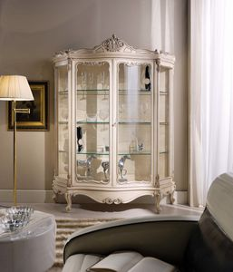 Chippendale display cabinet 2 doors lacquered, Classic style lacquered showcase