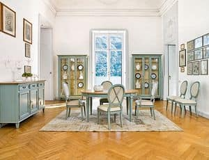 CIGNO Art. 1207, Lacquered cabinet, luxury classic style, for dining room