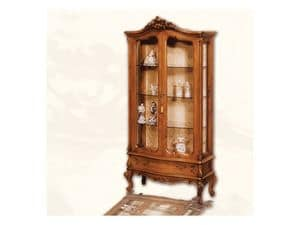 Display Cabinet art. 06, Display cabinet made of wood with doors, Louis XV style