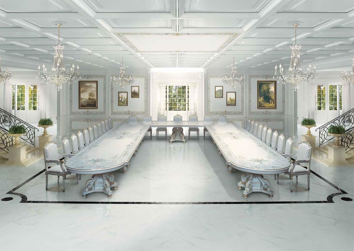 Large luxury classic table in Art Deco style | IDFdesign