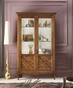 Floreale display cabinet, Traditional design showcase