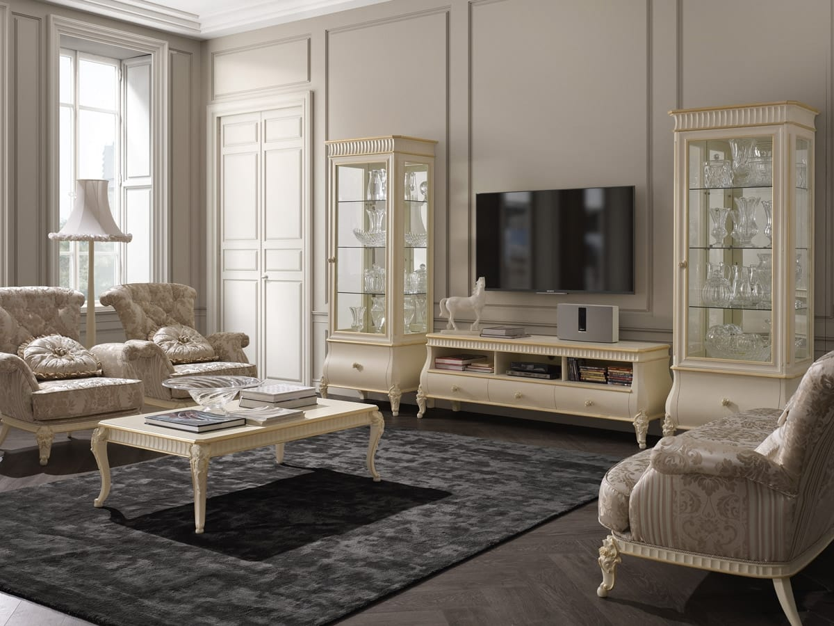Florentia display cabinet, Showcase for classic living room