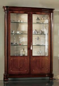 Gardenia display cabinet 2 doors, Classic display cabinet with two doors and interior light