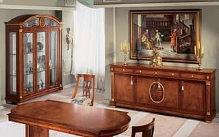 IMPERO / Display cabinet with 3 doors, Display cabinet made of handcrafted ash wood