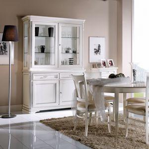 La Maison MAISON608T, Elegant classic style crystal cabinet