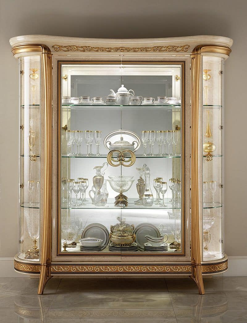 Melodia display cabinet, Classic display cabinet, with 1 or 2 doors, for dining in style