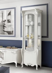 Puccini Art. 7603, Refined display cabinet in white lacquered wood