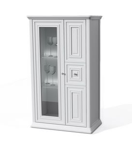 Romantica showcase 7521, Wooden display cabinet with shelves