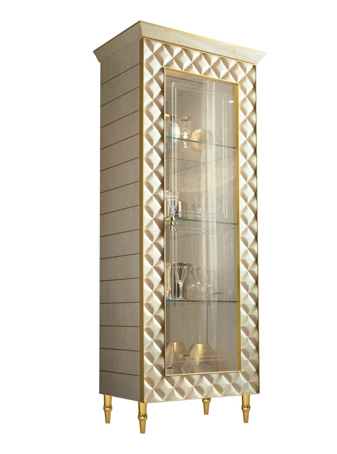 SIPARIO Display Cabinet 1, Classic Luxury Display Cabinet With Decorative  Lozenges