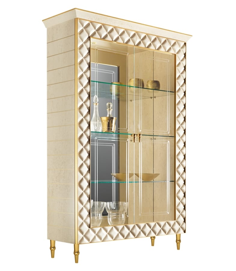SIPARIO display cabinet 2, Classic style display cabinet with gold decorations