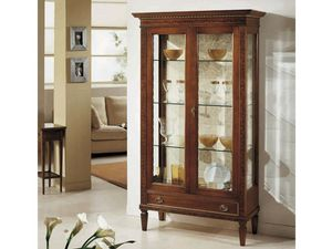 Siviglia display cabinet, Classic showcase with glass shelves