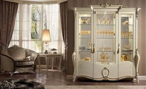 Tiziano display cabinet, Display cabinet, available with 1, 2 or 3 doors, classic food halls