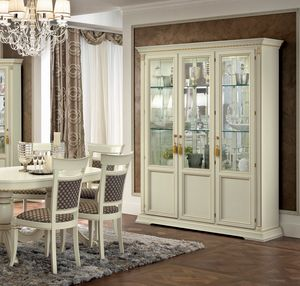 Treviso display cabinet, Showcase with mirror back
