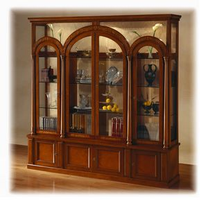 V451 Le Colonne display cabinet, Classic display cabinet, with lighting, at outlet price