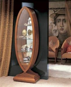 VE23 Goccia, Display cabinet in solid wood curved, classical style