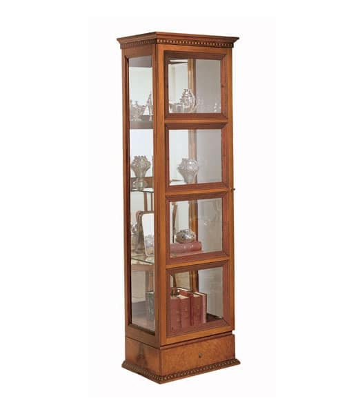 VE25 Quadrotti, Classic Wooden Display Cabinet, Inside Lighting