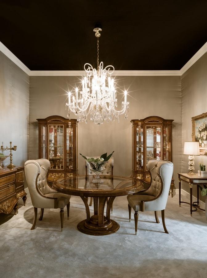 Showcase 1432, Luxury inlaid display cabinet