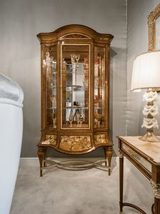 Showcase 1432, Luxury inlaid display cabinet