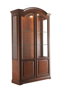 Villa Cinquanta showcase 7578, Wooden display cabinet with glass doors