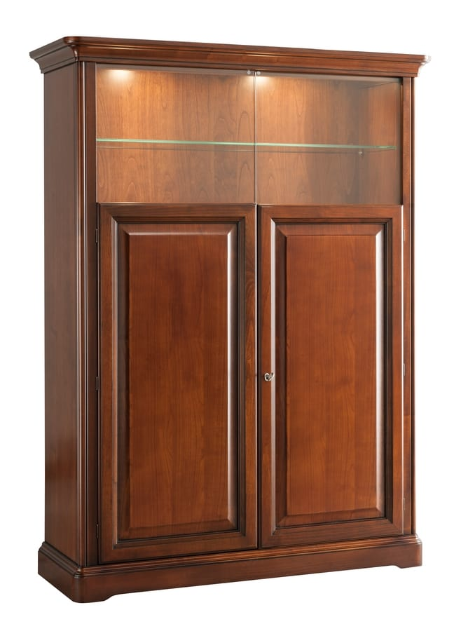 Villa Cinquanta display cabinet 7575, Classic display cabinet with backlighting