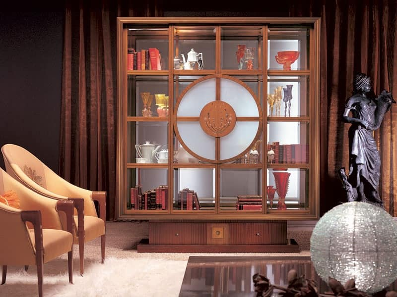 VL12 Il Quadro display cabinet, Library display cabinet, interior lighting, classical style