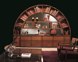 VL13 Arco display cabinet, Library display cabinet, classic, inlaid, arch shaped