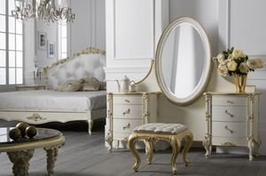 Art. 0127, Luxurious dressing table with adjustable mirror