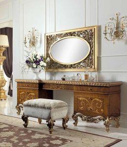 Art. 830/T, Luxury classic dressing table in light oak