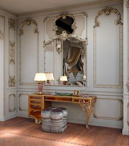 Art. 870/T, Dressing table in wood with asymmetrical design