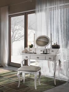 Art. AX721 + Art. AX722, Dressing table in a Provencal style, made of fine wood