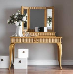 Art. CA727 + Art. CA728, Dresser with mirror, for classical style bedroom