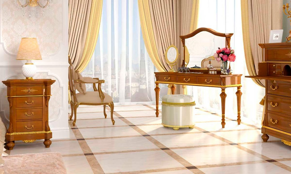 Carlotta dressing table, Classic style dressing table