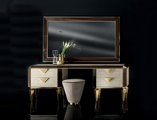 DIAMANTE dressing table, Dressing table with 4 drawers, with a refined design