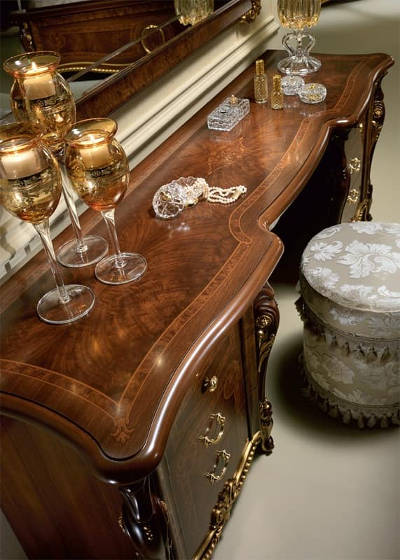 Donatello dressing table, Luxury dressing table, hand-decorated, for the bedroom