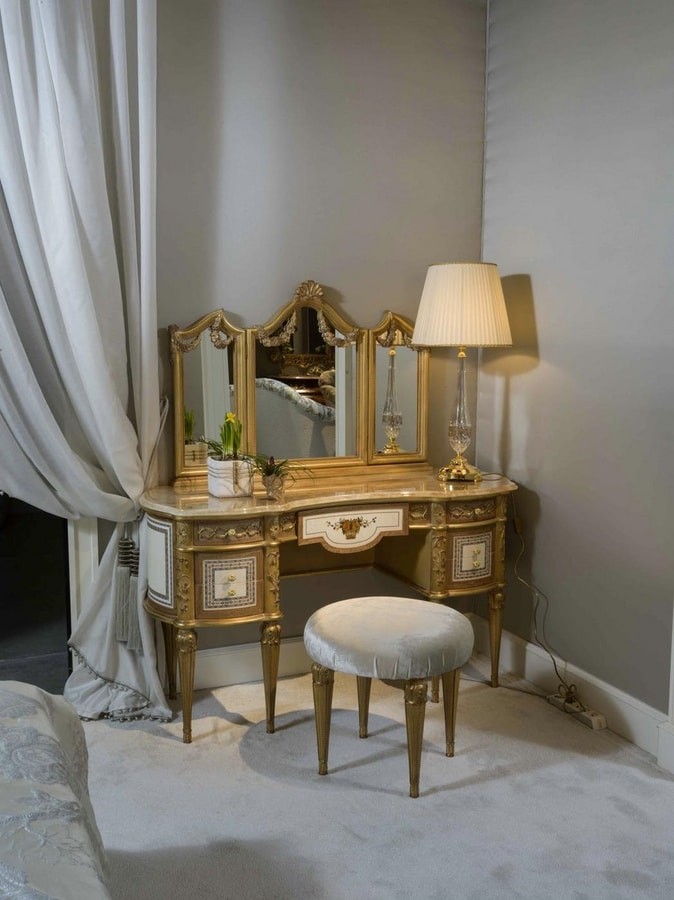 Dressing table 3705 Louis XVI style, Dressing table for luxury bedroom