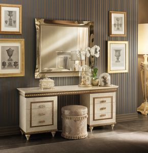 Fantasia dressing table, Dressing table with removable glass shelf
