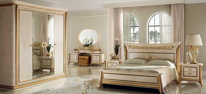 Melodia dressing table, Classic dressing table, gold trim, finely worked, for luxury bedrooms