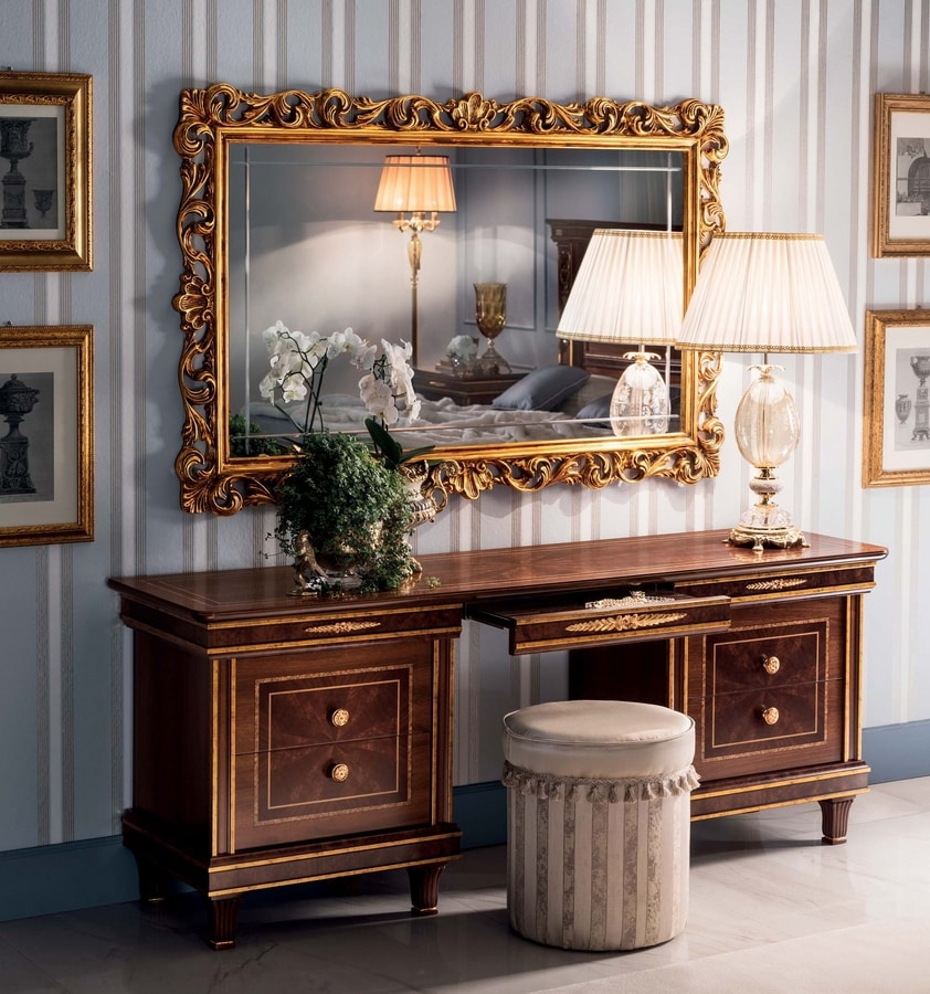 Modigliani dressing table, Empire style dressing table for bedroom