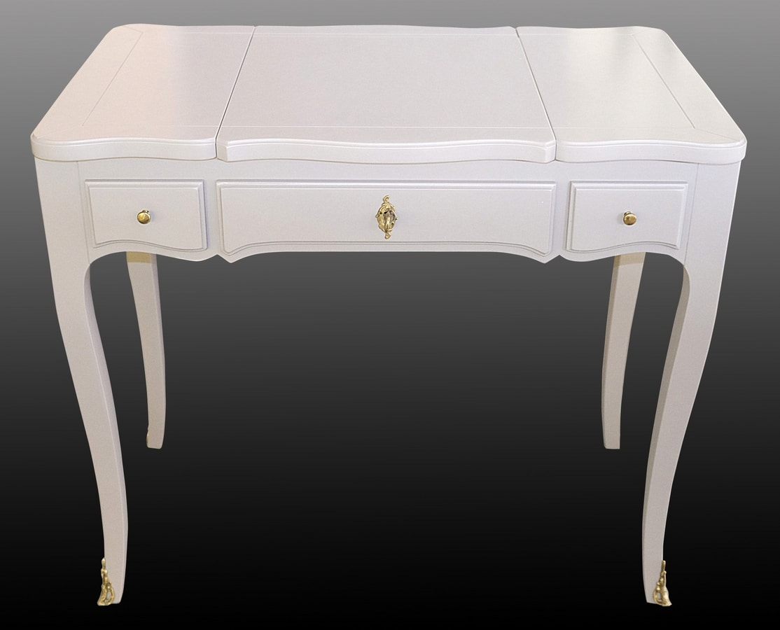 Teresa FA.0148, Openable toilet with 3 drawers, luxury classic style.