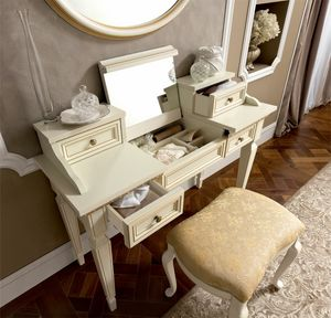 Treviso dressing table, Dressing table with drawers and mirror
