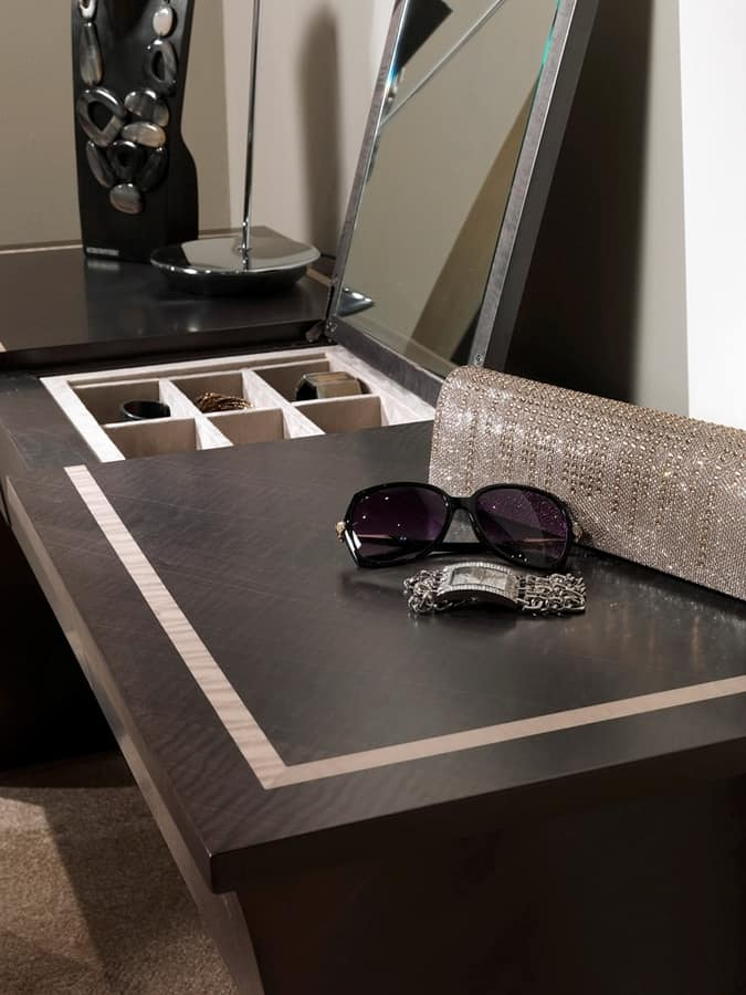 TS09 Cartesio dressing table, Dressing table with jewels holder