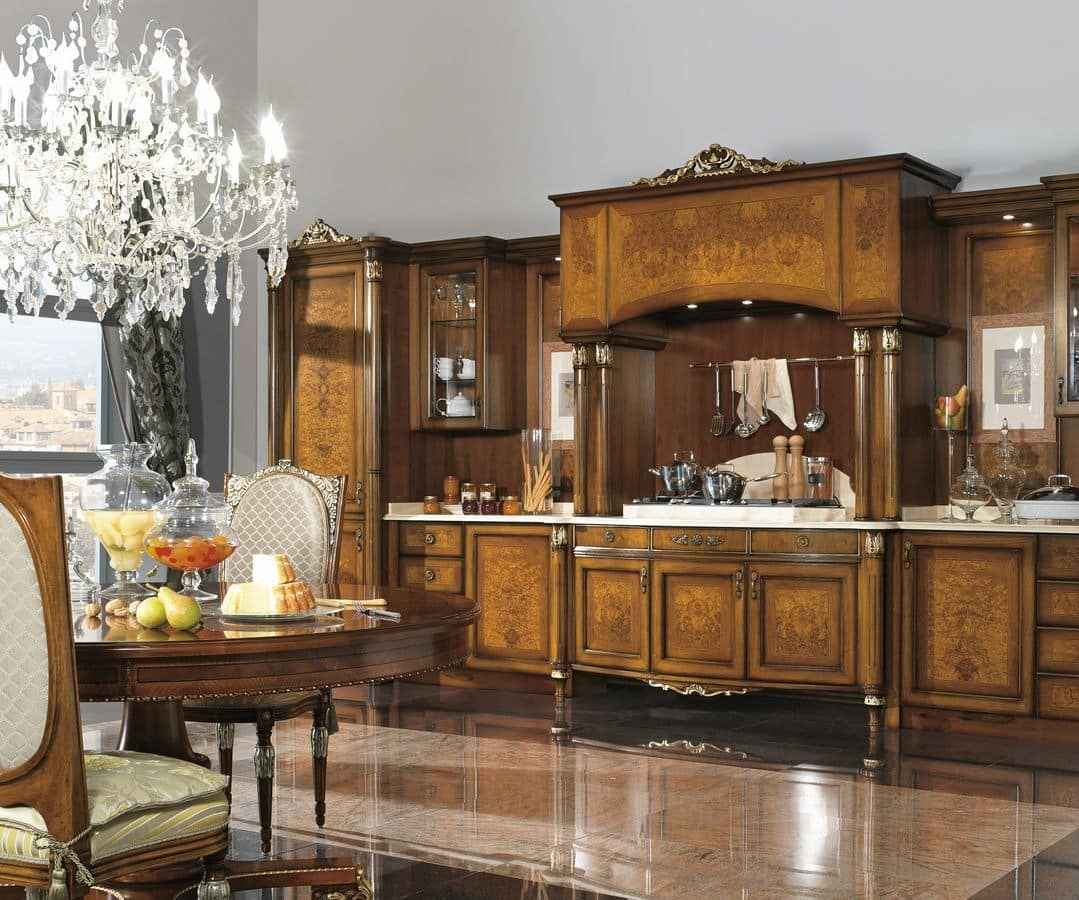 Classic luxury kitchen walnut and ash burl idfdesign - Cucine scic classiche ...