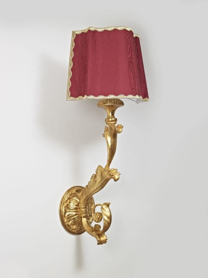 LAMP - WALL TORCH HOLDER ART. LM 0019, Classic wall lamp for luxury restaurants and hotels