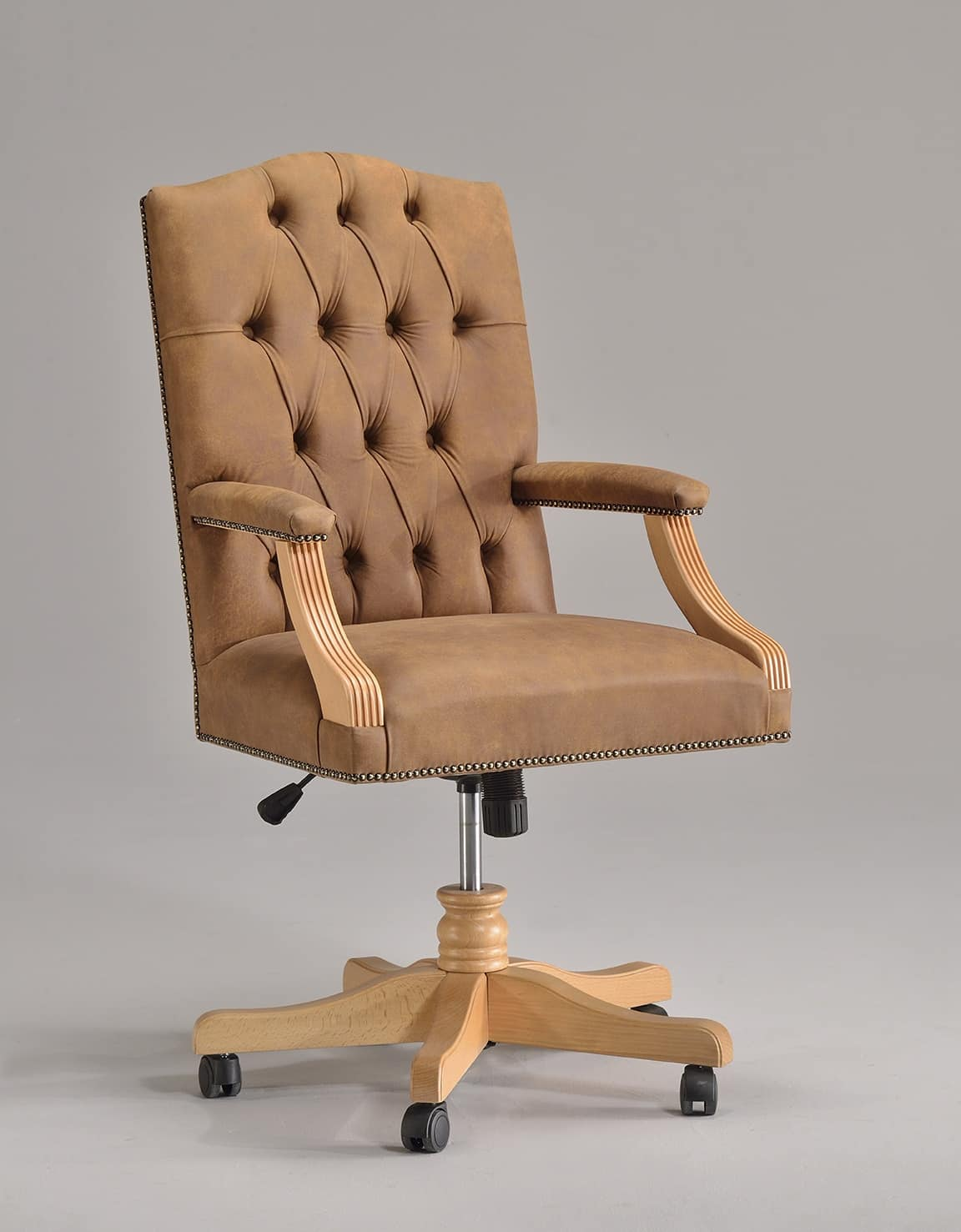 ANTU' office 8222A, Swiveling chair on castors, for classic style offices