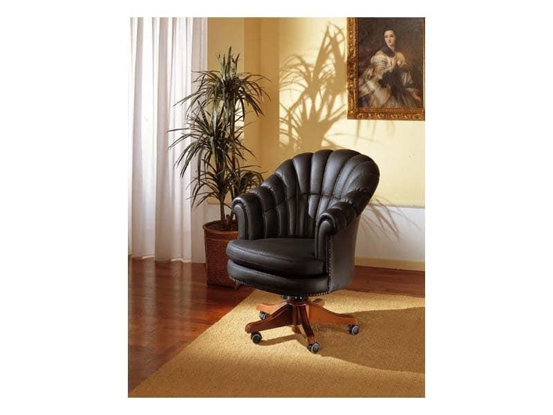 Arlon, Revolving armchair for presidential office, in leather
