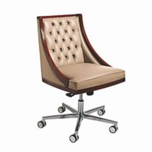 Boss swivel chair, Swivel chair with classic style, on wheels