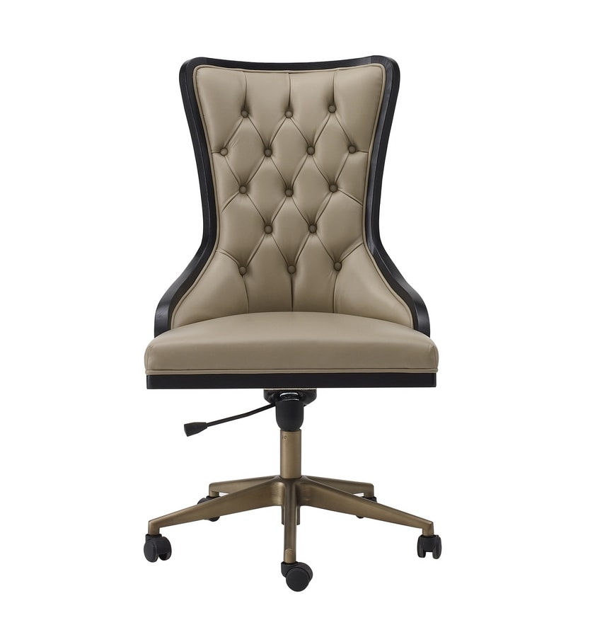 Dilan Art. D08, Office swivel chair with capitonné finish