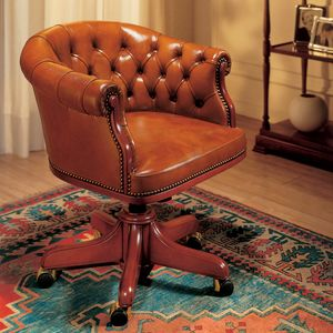 EISENHOWER, Luxurious leather chairs for executive office